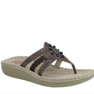 EARTH SPIRIT Womens Tobi Gelron 2000 Thong Sandals